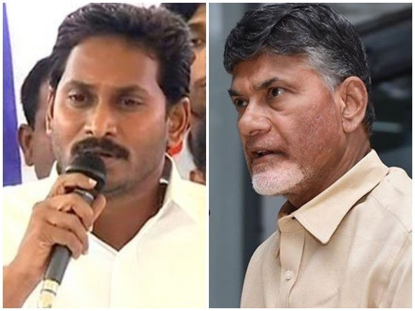 YSRCP chief Jagan Mohan Reddy (left) and AP CM N Chandrababu Naidu (right). Photo/ANI
