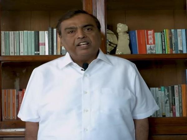 Mukesh Ambani addressing the celebration of 25 Years Of Mobility: Desh Ki Digital Udaan on Friday