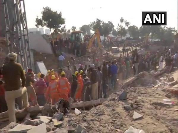 Visual from the rescue operation being carried out in Mohali on Saturday. Photo/ANI