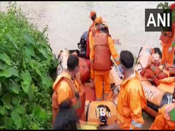 Visuals from the rescue operations carried out by NDRF in Goalpara, Assam on Monday. Photo/ANI