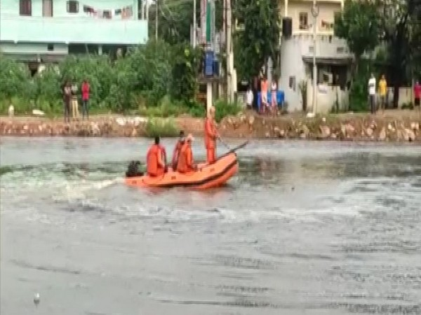 NRDF team undertaking rescue operation in Hyderabad.