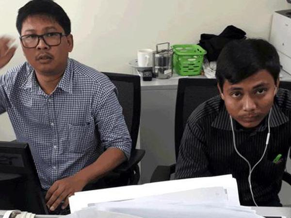 Imprisoned Reuters journalists Kyaw Soe Oo and Wa Lone