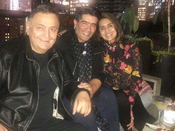 Rishi Kapoor, Manish Malhotra and Neetu Kapoor, Image courtesy: Instagram