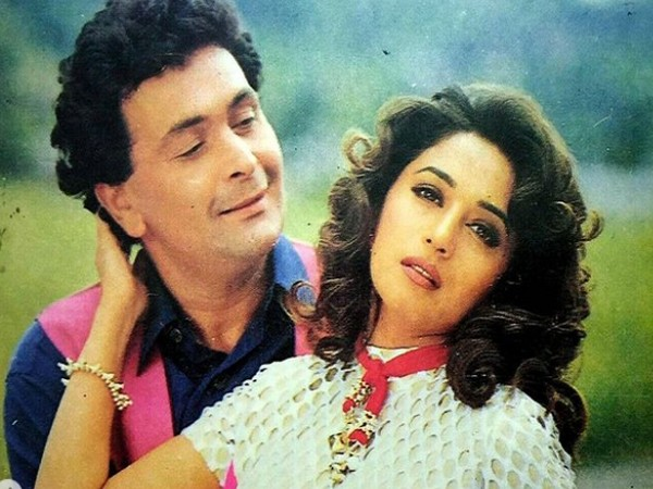 A still from 'Yaraana' featuring Madhuri Dixit Nene and late actor Rishi Kapoor (Image Source: Instagram)