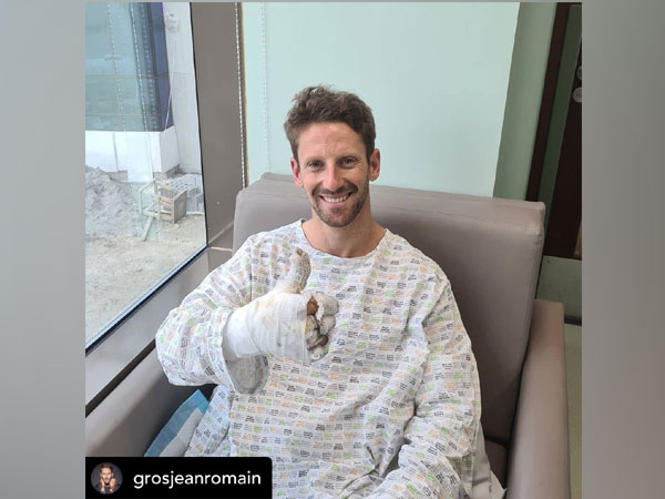 Haas driver Romain Grosjean (Photo/ Romain Grosjean Twitter)