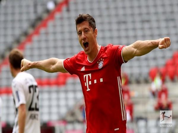 Bayern Munich striker Robert Lewandowski (Photo/Bundesliga Twitter)