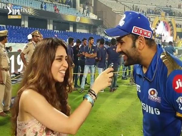 Ritika and Rohit Sharma after Mumbai Indians' fourth title win (Photo/IPL)