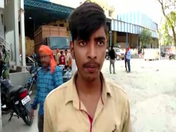 Rohit Kumar Mishra, son of deceased Nanhe Lal Mishra. Photo/ANI