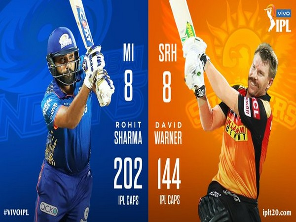 Mumbai Indians skipper Rohit Sharma and SRH captain David Warner (Image: BCCI/IPL)