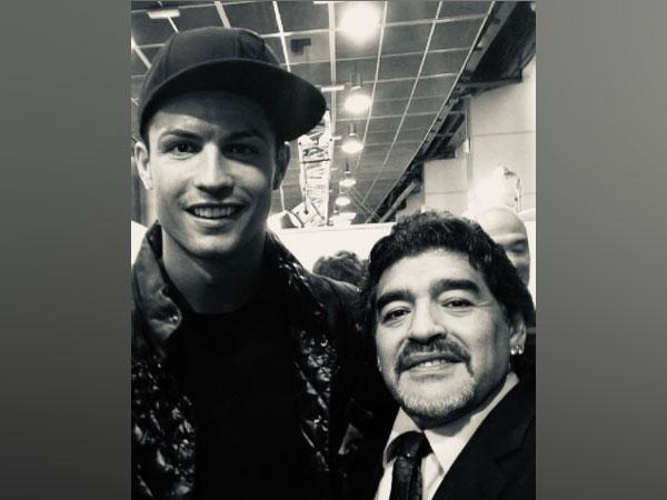 Cristiano Ronaldo with Diego Maradona (Photo/ Cristiano Ronaldo Twitter)