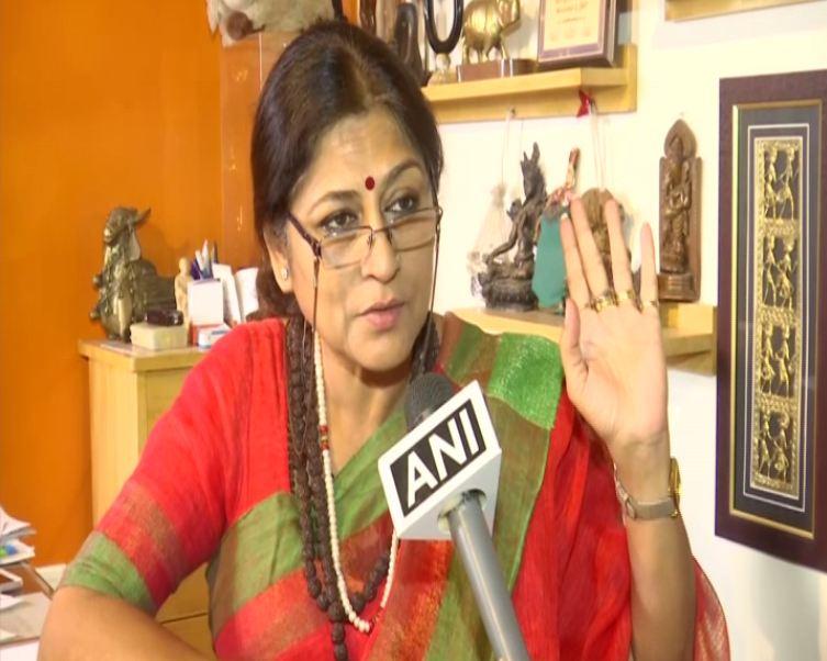 BJP leader Roopa Ganguly talkin to ANI in Kolkata on Thursday. Photo/ANI