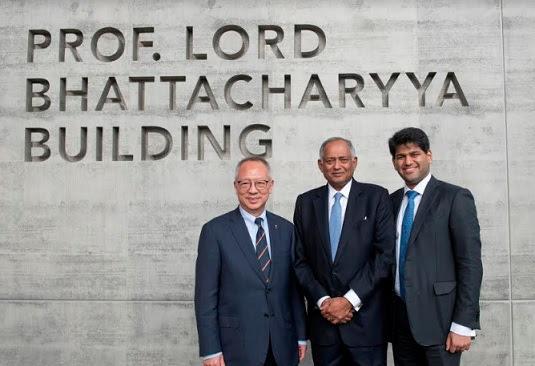 Roy Chung, Venu Srinivasan, and Sudarshan Srinivasan at Prof. Lord Bhattacharyya Building, University of Warwick