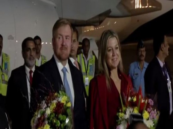 King of The Netherlands, Willem-Alexander and Queen Maxima arrived in India for a five-day visit. Photo/ANI