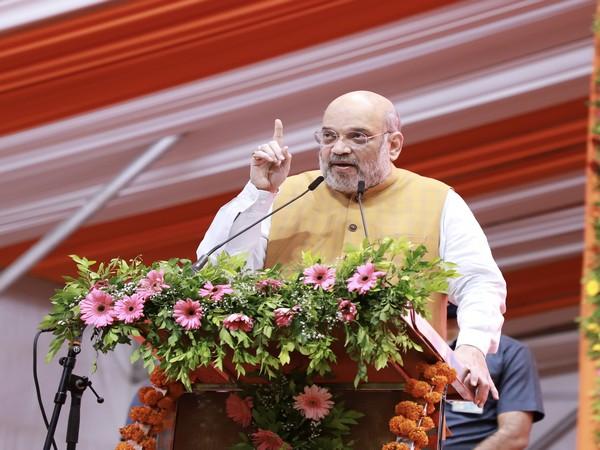 Union Minister Amit Shah in Gandhinagar (Photo/ANI)