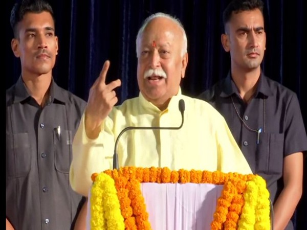 RSS chief Mohan Bhagwat addressing a gathering in Pune