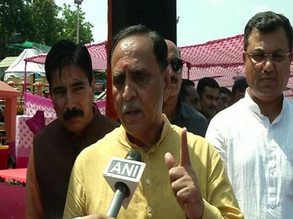 Gujarat Chief Minister Vijay Rupani talking to ANI in Rajkot on Tuesday
