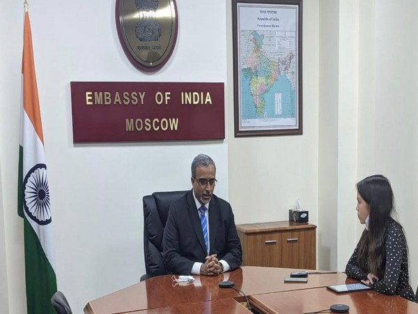 Indian Ambassador to Russia Bala Venkatesh Varma giving an interview to TASS. (Photo Credit: India Embassy in Moscow)