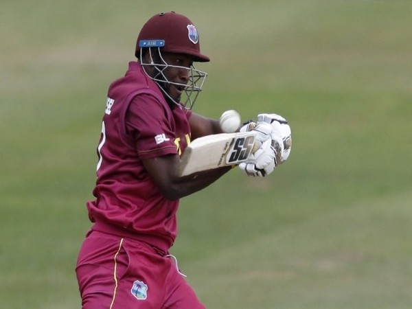 West Indies all-rounder Andre Russell in action against New Zealand in warm-up game. (Photo/West Indies Twitter)