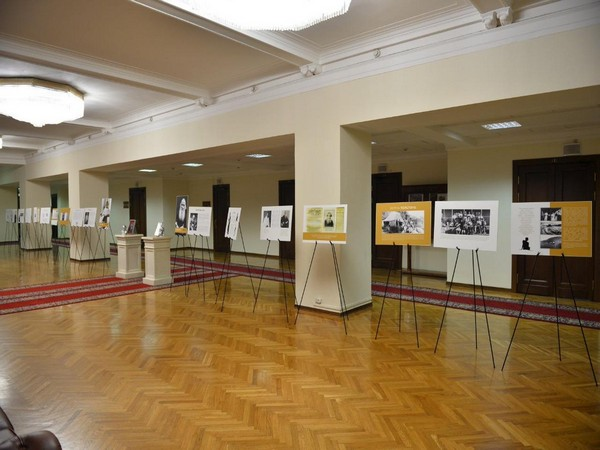A view of exhibition dedicated to the friendship between Mahatma Gandhi and Leo Tolstoy on October 2 in Moscow. Photo/ANI