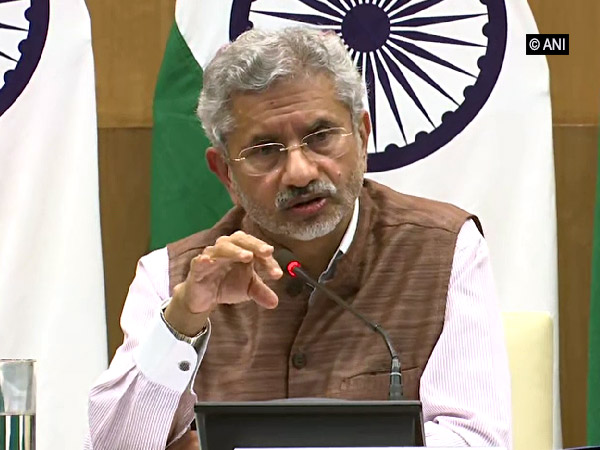 External Affairs Minister S Jaishankar addressing the media on first 100 days of his ministry on Tuesday