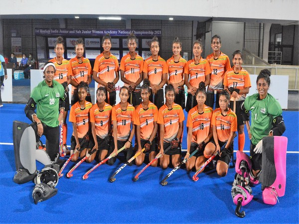 SAI-Academy junior women's team with the trophy