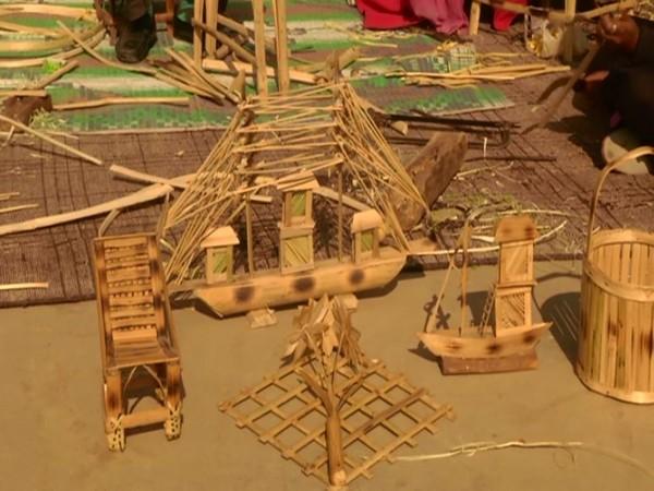 Visual of bamboo made products designed in Samba (Photo/ANI)