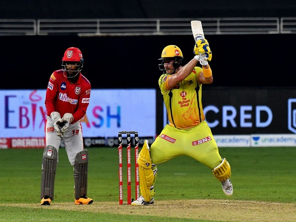 CSK opener Shane Watson in action against KXIP 9Photo/ iplt20.com)