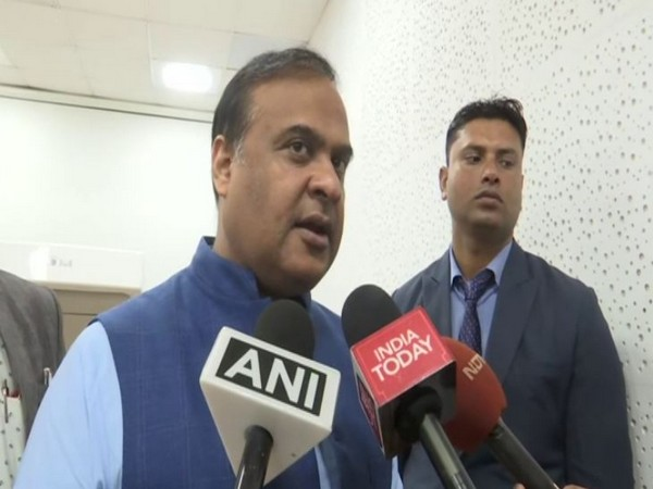 Assam Finance Minister Himanta Biswa Sarma speaking to reporters in Guwahati on Tuesday. Photo/ANI