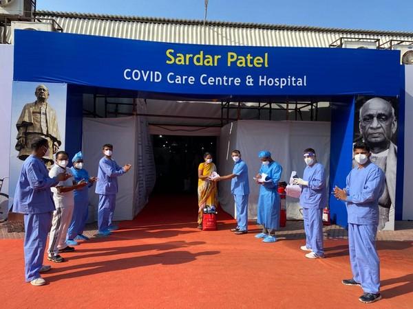 A visual from Sardar Patel Covid centre in Delhi. (file photo)