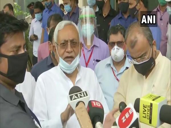 Bihar Chief Minister Nitish Kumar on Thursday interacting with media. (ANI)