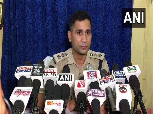 SDPO, Tripura Police Dr Ramesh Yadav addressing media on wednesday. (Photo/ ANI)