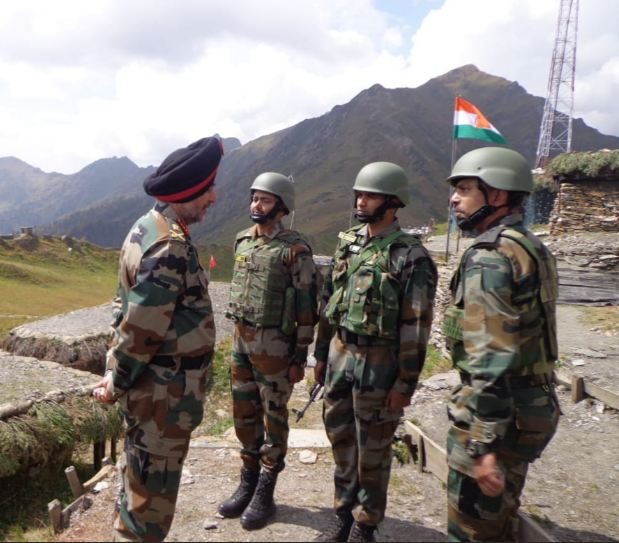 Northern Army Commander Lt Gen Ranbir Singh reviewed the security situation in Valley on Friday. (Photo/ANI)