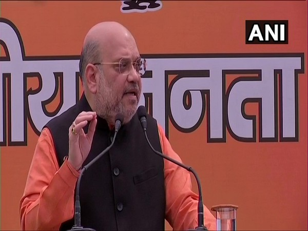 Union Home Minister Amit Shah addressing the media in Delhi on Sunday. [Photo/ANI]