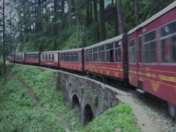 The special train on Shimla-Kalka heritage route. Photo/ANI