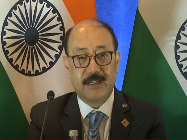 Foreign Secretary Harsh Vardhan Shringla At a presser after PM Modi's address at his UN General Assembly (UNGA).