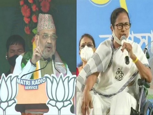 Union Home Minister Amit Shah and West Bengal Chief Minister Mamata Banerjee (Photo/ANI)