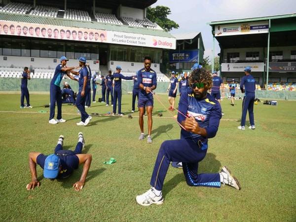 Sri Lankan team players training before the coronavirus outbreak. (Photo/SLC Twitter)