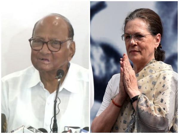 NCP chief Sharad Pawar and Congress interim president Sonia Gandhi