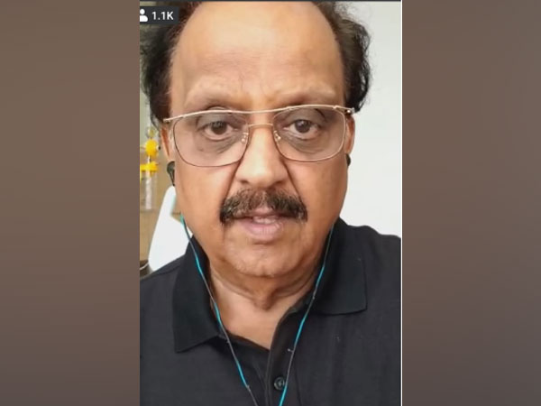 A still from the video shared by singer SP Balasubrahmanyam (Image source: Facebook)