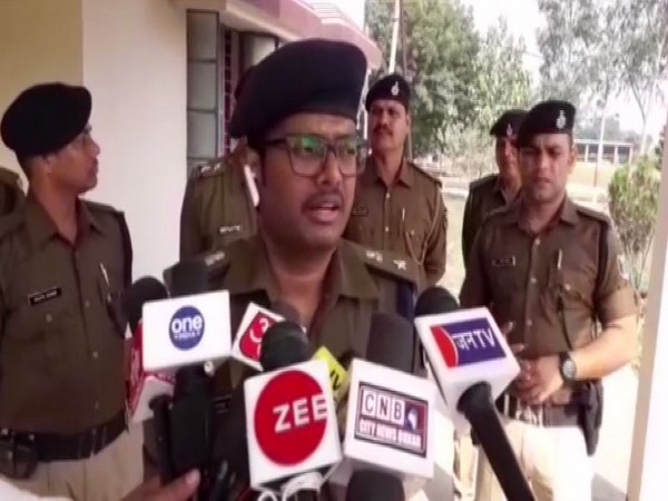 Superintendent of Police (SP) Upendra Nath Verma speaking to reporters in Buxar on Tuesday. Photo/ANI