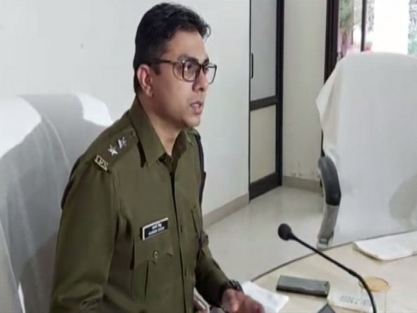 Superintendent of Police (SP) Adarsh Sidhu speaking to reporters in Tonk on Monday. Photo/ANI