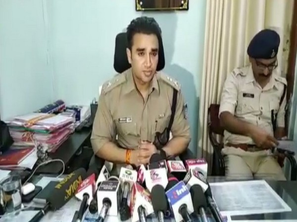 Superintendent of Police (Ujjain) Sachin Atulkar speaking to reporters in Madhya Pradesh on Friday.