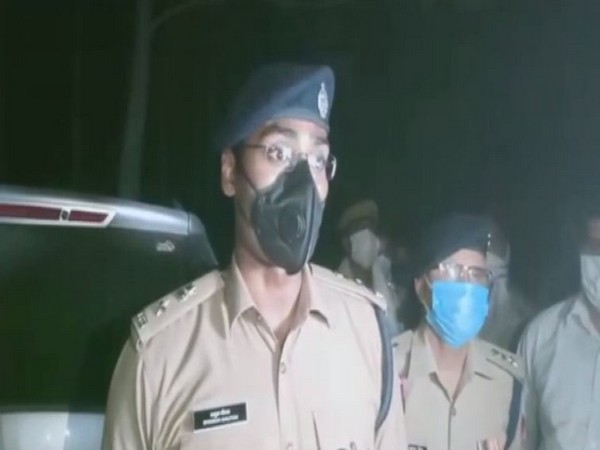 Superintendent of Police Shagun Gautam speaking to the reporters on Friday. (Photo/ANI)