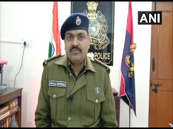 Superintendent of Police (SP) Baghpat Pratap Gopender Yadav speaking to reporters on Thursday. Photo/ANI