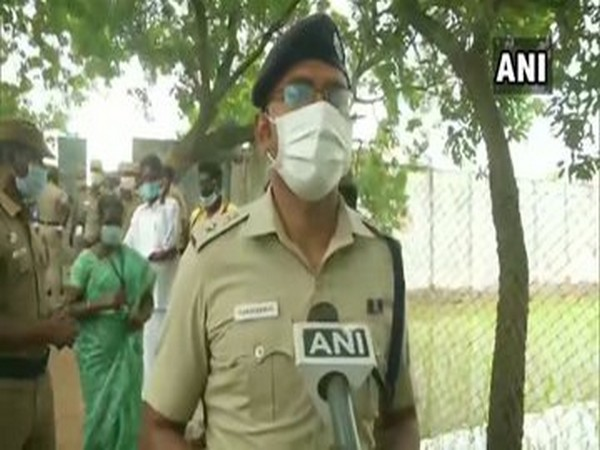 Aravindan, Superintendent of Police Thiruvallur speaking to ANI on Saturday. (Photo/ANI)