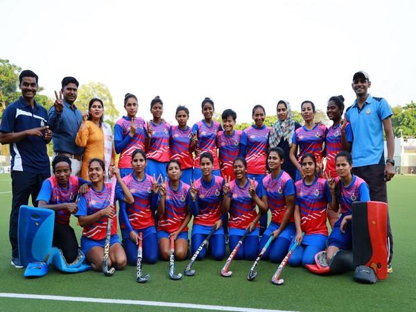 SSB clinched the 10th Hockey India Senior Women National Championship 2020 title. (Photo/Hockey India Twitter)