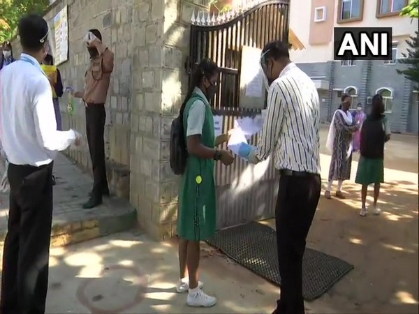 SSLC exams begin in Karnataka. (Photo/ANI)(Photo/ANI)