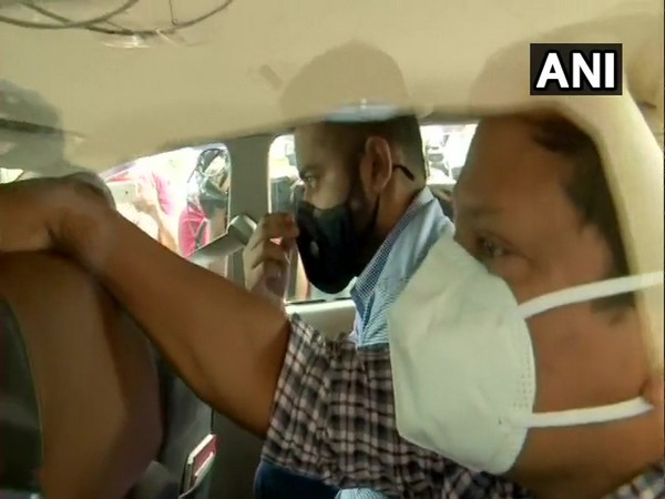 Shiv Sena MLA Pratap Sarnaik's son being detained by ED on Tuesday. [Photo/ANI]