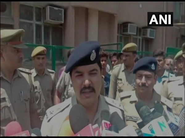 Senior Superintendent of Police (SSP) Kalanidhi Nathani speaking to reporters in Lucknow, Uttar Pradesh on Tuesday.