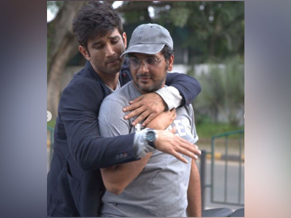 Director Mukesh Chhabra with late Bollywood actor Sushant Singh Rajput. (Image Source: Instagram)